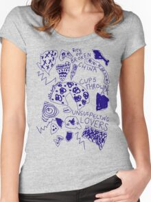 'Broken Love China' Women's Fitted Scoop T-Shirt