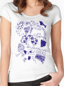 'Broken Love China' Women's Fitted Scoop T-Shirt