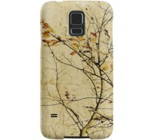 Nature Floral Print Collage in Warm Tones Samsung Galaxy Case/Skin
