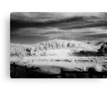 big hill little fence.........daniland Canvas Print