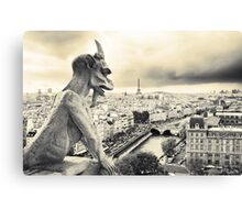 Looks Like Bad Weather: From the Notre Dame, Paris Canvas Print