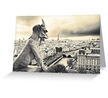 Looks Like Bad Weather: From the Notre Dame, Paris Greeting Card
