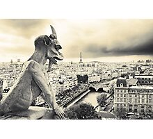 Looks Like Bad Weather: From the Notre Dame, Paris Photographic Print