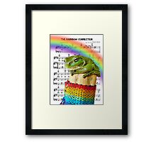 """One day we'll find it, the rainbow connection, the lovers, the dreamers, and me"" Framed Print"