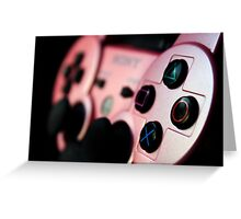 Pink DualShock 3 Photographic Print Greeting Card