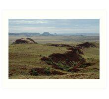 Very old landscape, Millstream Chichester National Park Art Print