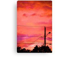 Neon Coloured Sky Canvas Print