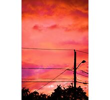 Neon Coloured Sky Photographic Print