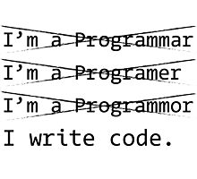 Funny Programmer Photographic Print