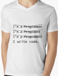 Funny Programmer Mens V-Neck T-Shirt