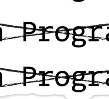 Funny Programmer Sticker