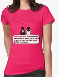 Funny Wedding Womens Fitted T-Shirt