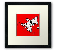 Flying English Bull Terrier  Framed Print