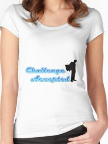 Funny Challenge Accepted Women's Fitted Scoop T-Shirt