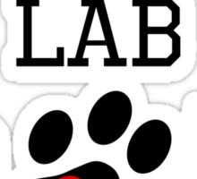Chocolate Lab Dad Sticker