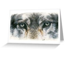 Eye-Catching Wolf Greeting Card