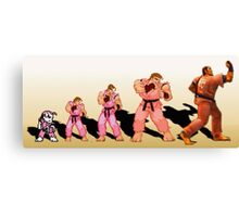 The Evolution of Dan, Street Fighter Canvas Print