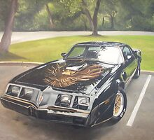 Painting of a Trans am by james78