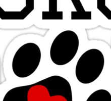 Collie, dad, dog, cute, heart, paw, paw print, owner, parent Sticker