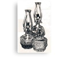 Oil Lamps Canvas Print