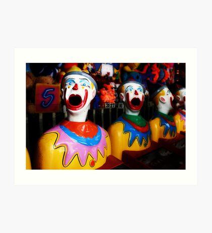 Sideshow Clowns Art Print