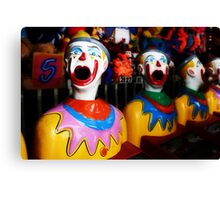 Sideshow Clowns Canvas Print