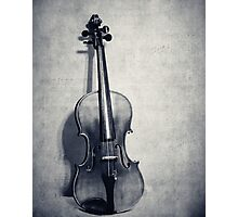 The Fiddle Solo in Black and White Photographic Print