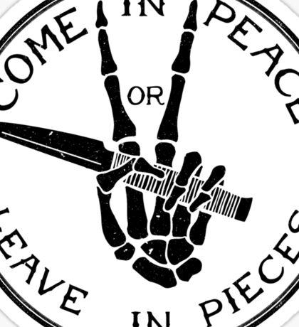 Come in Peace Sticker