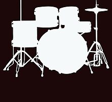 White Drum Kit by cpotter