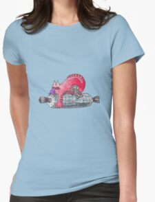 Red snooze Womens Fitted T-Shirt