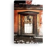 Old Door, Halfway New Metal Print