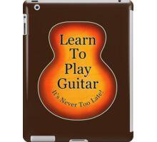 Learn To Play Guitar iPad Case/Skin