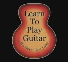 Learn To Play Guitar One Piece - Long Sleeve