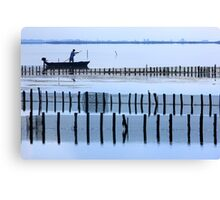 Fisherman of the lagoon Canvas Print