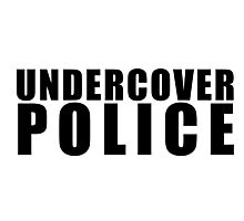Funny Undercover Police Photographic Print