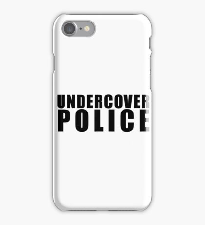 Funny Undercover Police iPhone Case/Skin