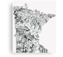 Minnesota: Abstract Canvas Print