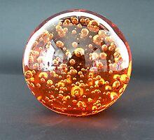 Orange Crystal Ball by Rowan  Lewgalon