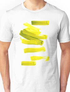 Painted Tee: Neon Green Gold Unisex T-Shirt