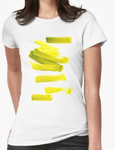 Painted Tee: Neon Green Gold Womens Fitted T-Shirt