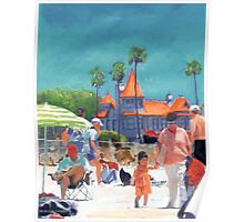 Baby's First Day at the Beach by RD Riccoboni Poster
