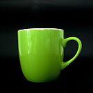 Green Mug 2 by Rowan  Lewgalon