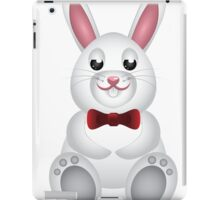Cute white bunny with bow  iPad Case/Skin