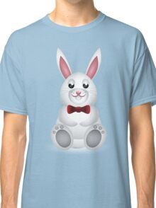 Cute white bunny with bow  Classic T-Shirt