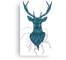 Head of a deer in hand drawn style Canvas Print