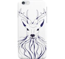 Head of a deer in hand drawn style 2 iPhone Case/Skin