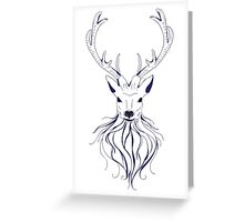 Head of a deer in hand drawn style 2 Greeting Card