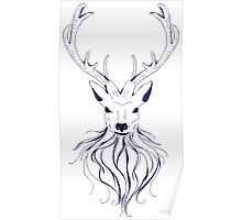 Head of a deer in hand drawn style 2 Poster