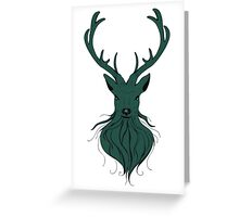 Head of a deer in hand drawn style 4 Greeting Card
