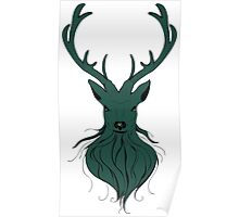 Head of a deer in hand drawn style 4 Poster
